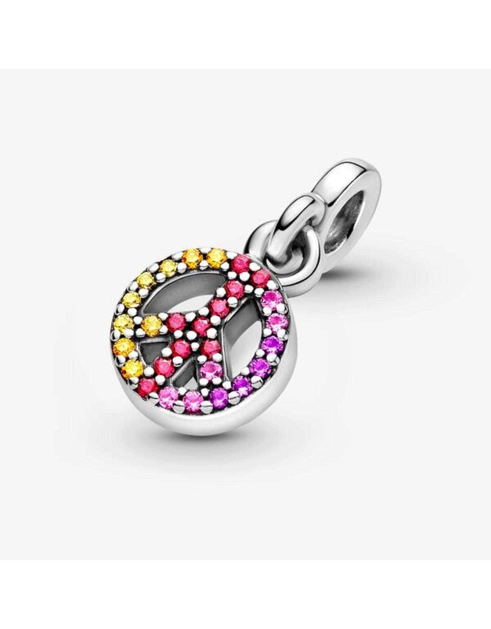 Pandora Pandora ME Charm,799424C01, My Peace Dangle, Multi-Colored Crystal&Red CZ
