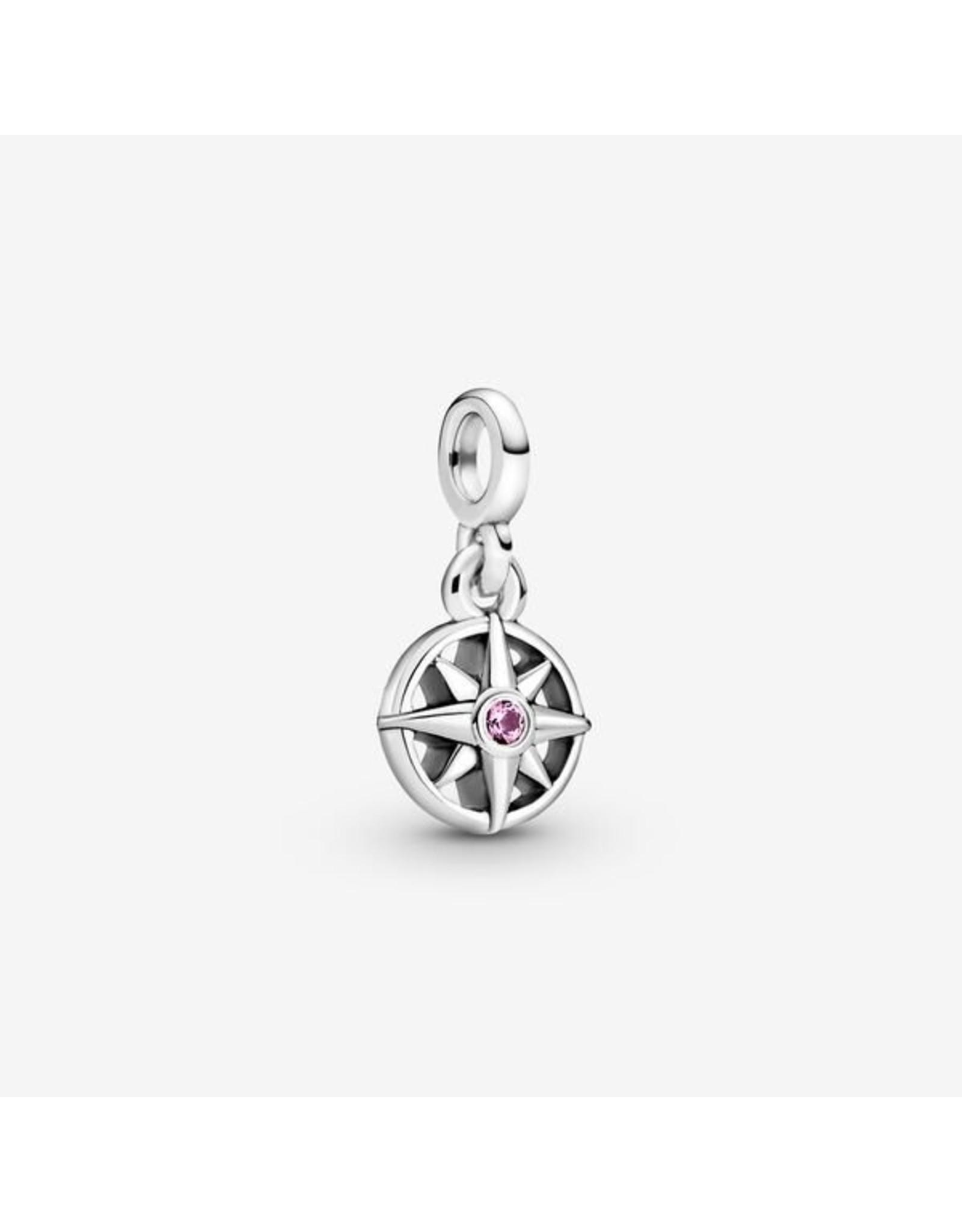 Pandora Pandora ME Charm,798975C01, My Compass Dangle, Cerise Crystal