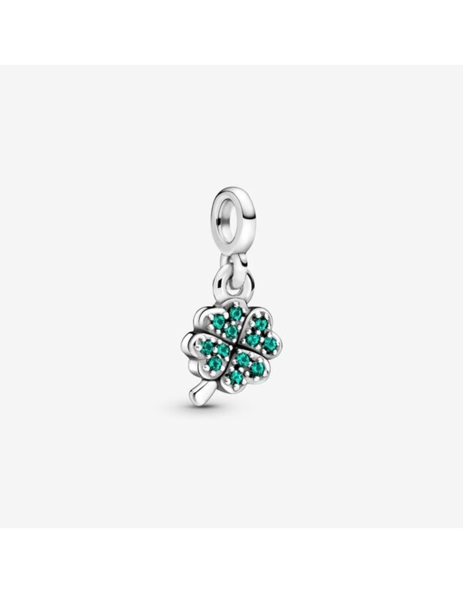 Pandora Pandora ME Charm, 798974C01, My Four-Leaf CLover Dangle, Green Crystals