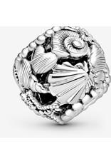 Pandora Pandora Charm,798950C00,  Openwork Starfish, Shells & Hearts