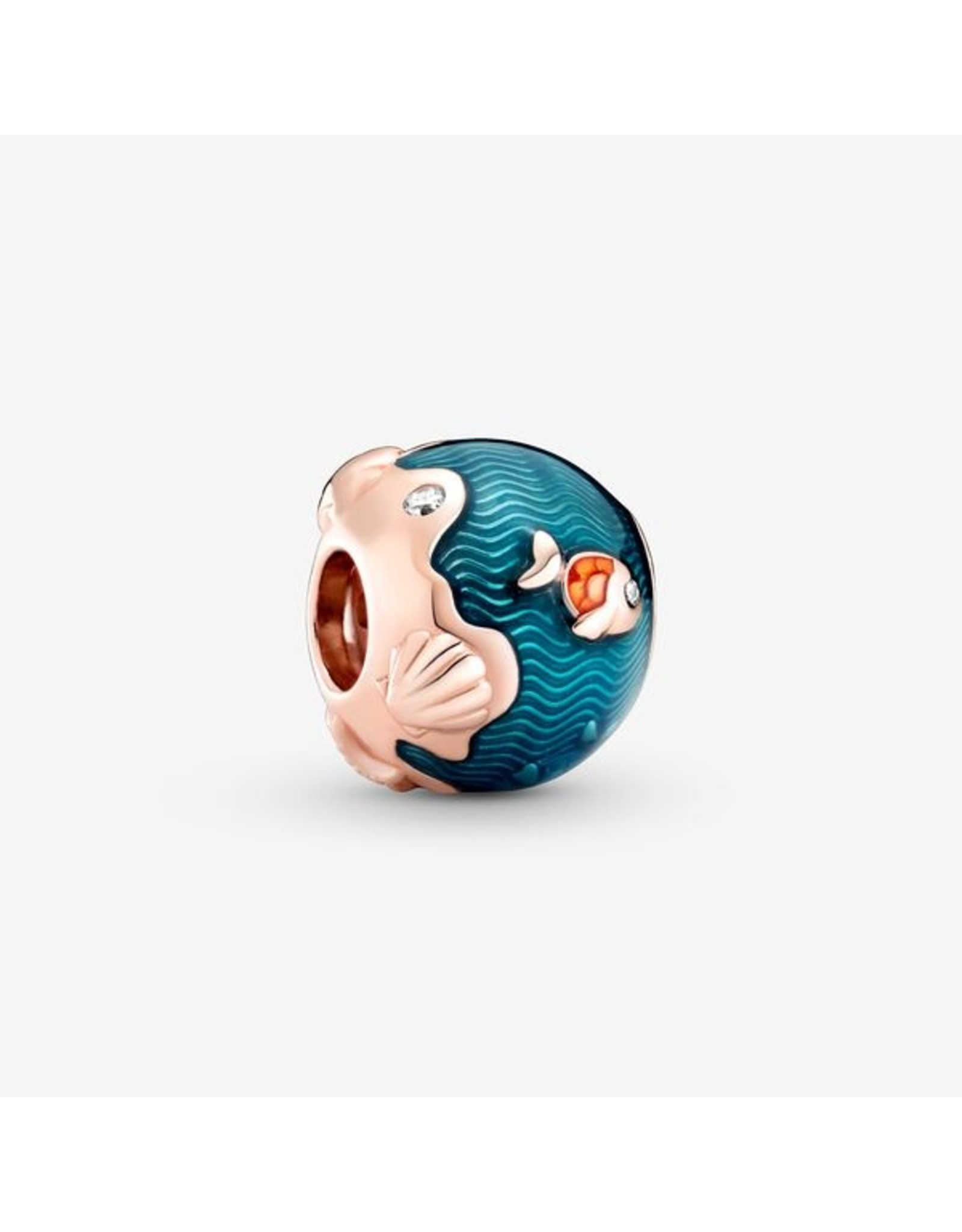 Pandora Pandora Charm,789004C01, Shimmering Ocean Waves & Fish, Mixed Enamel&Clear CZ