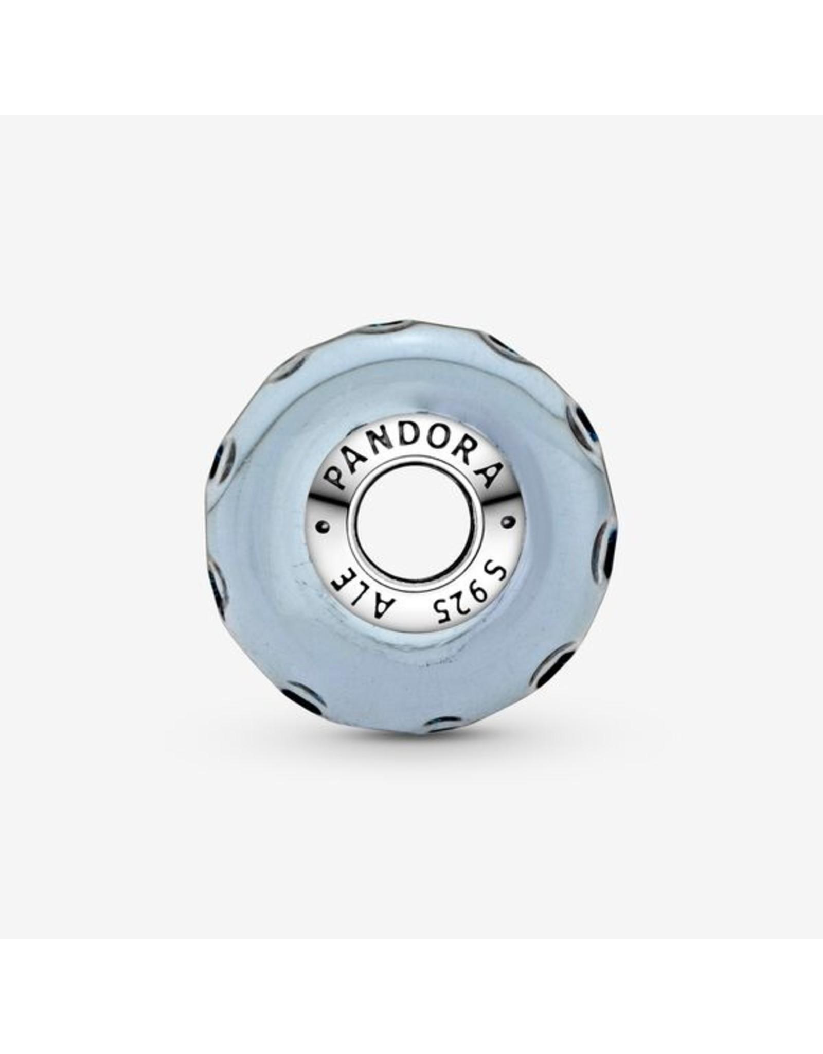 Pandora Pandora Charm,798938C00 Wavy Dark Blue Murano Glass Ocean