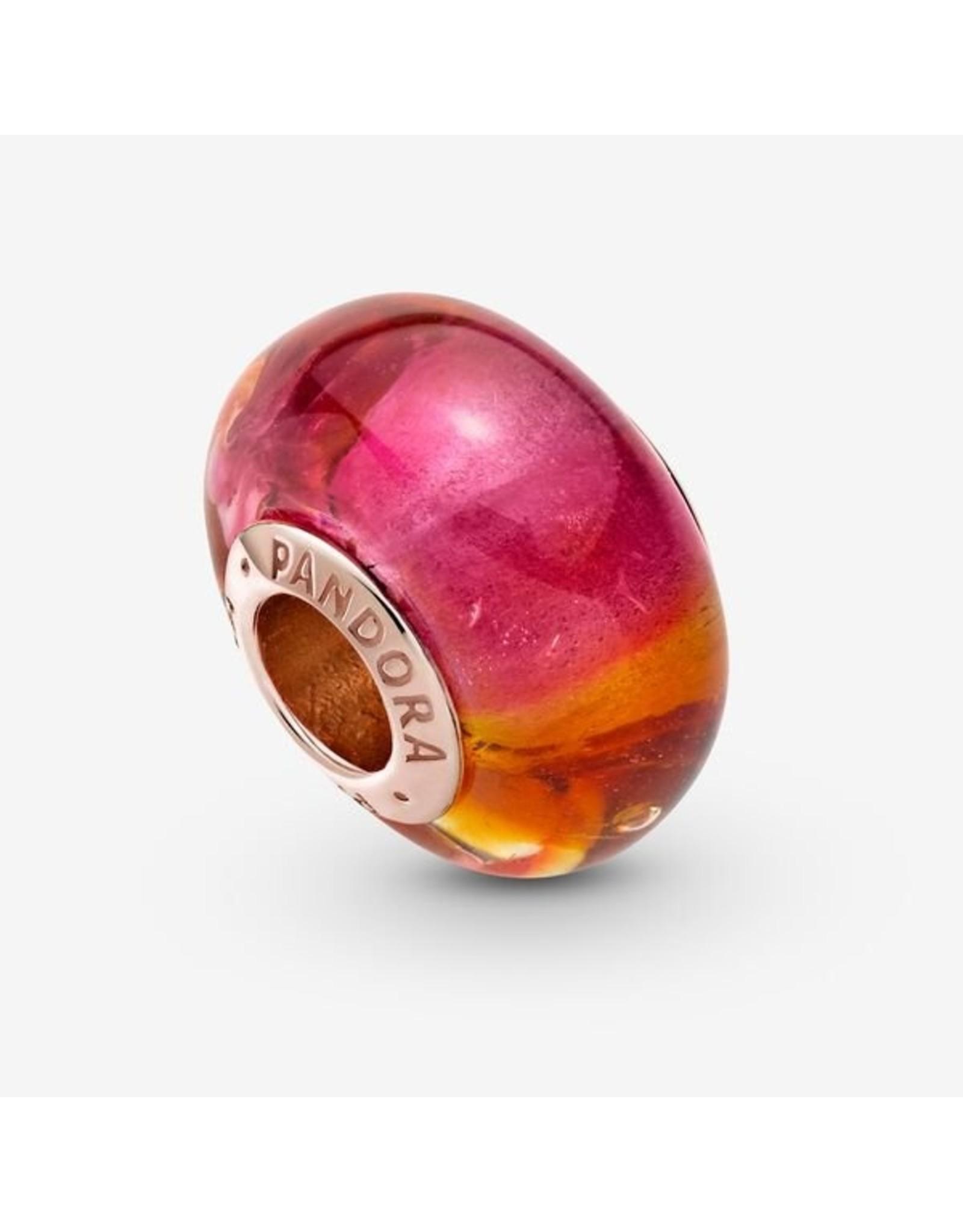 Pandora Pandora Charm, 789440C00, Glittering Sunset Murano Glass
