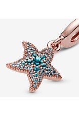 Pandora Pandora Charm, 788942C01, Sparkling Starfish Dangle, Blue Crystals