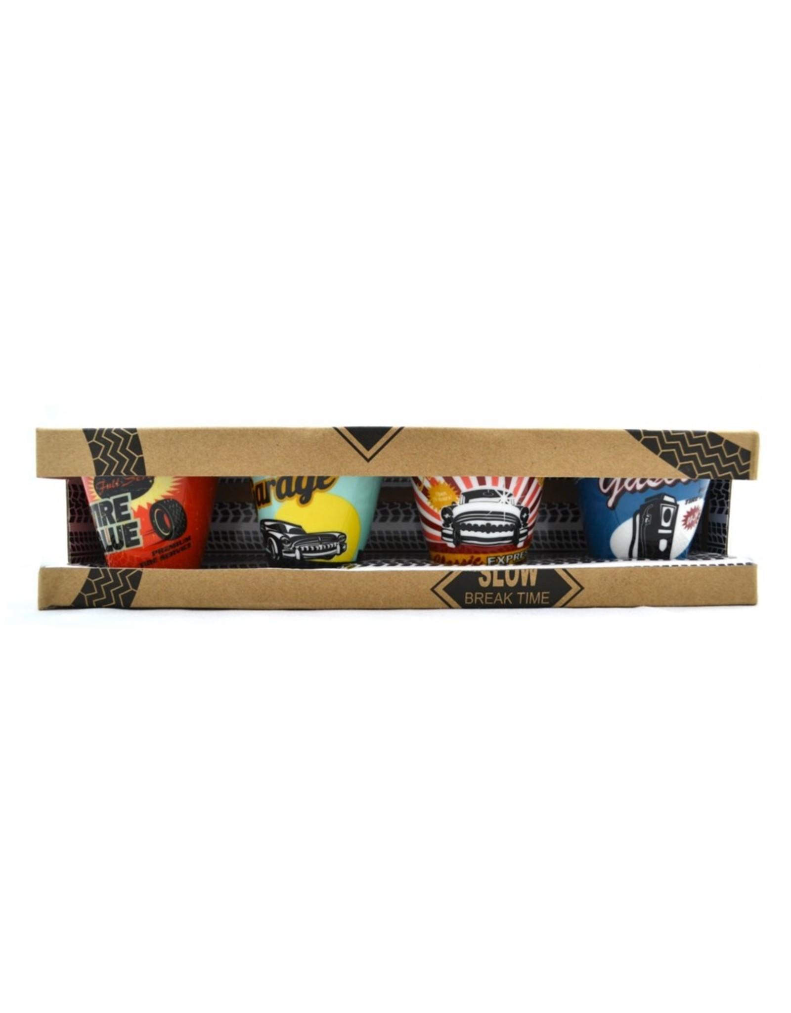 Garage glasses set of 4