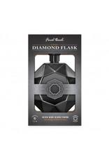 Flask-Diamond Black Chrome