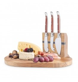 Cheese Knifes & Magnetic Wood Board 3pc