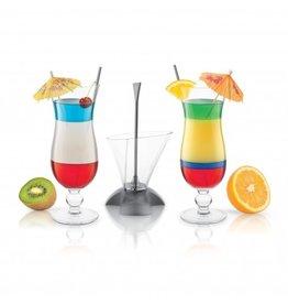 Rainbow Cocktail Glass Set-Tool + 2 Glasses