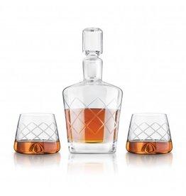 Whiskey Decanter Set- Decanter/Stopper/2Glasses