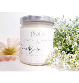 Firefly Creations, Farmhouse Collection, Creme Brulée Candle 8oz