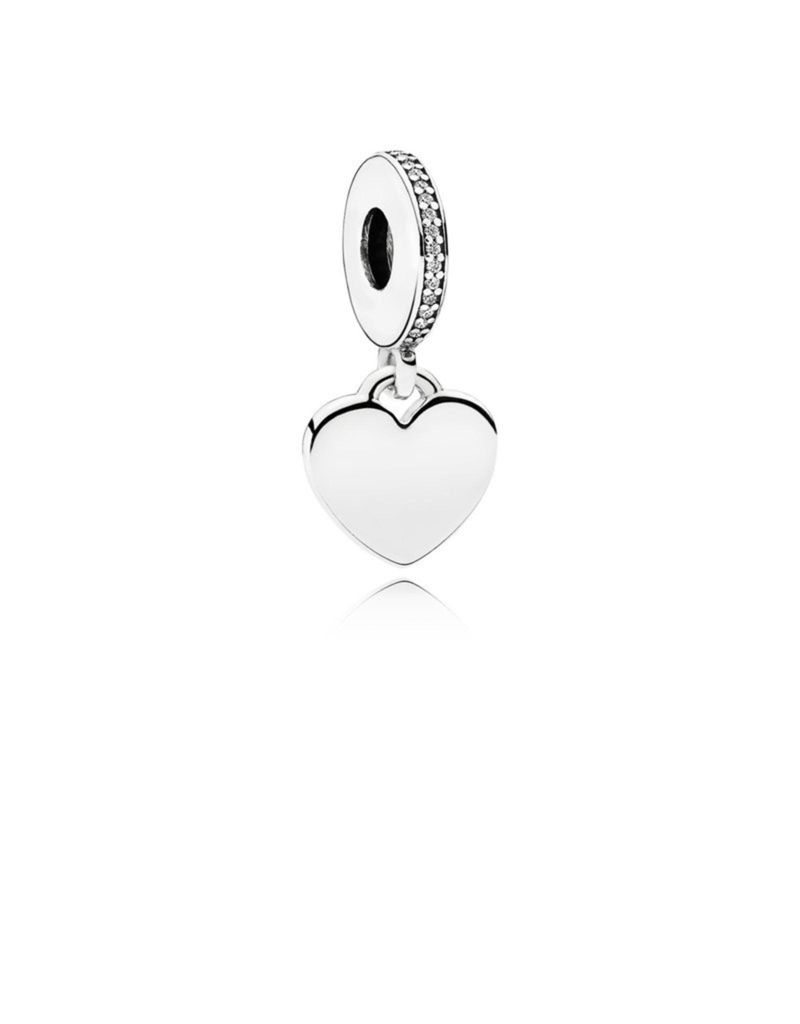 Pandora Pandora Charm,792017CZ, Dangle Heart