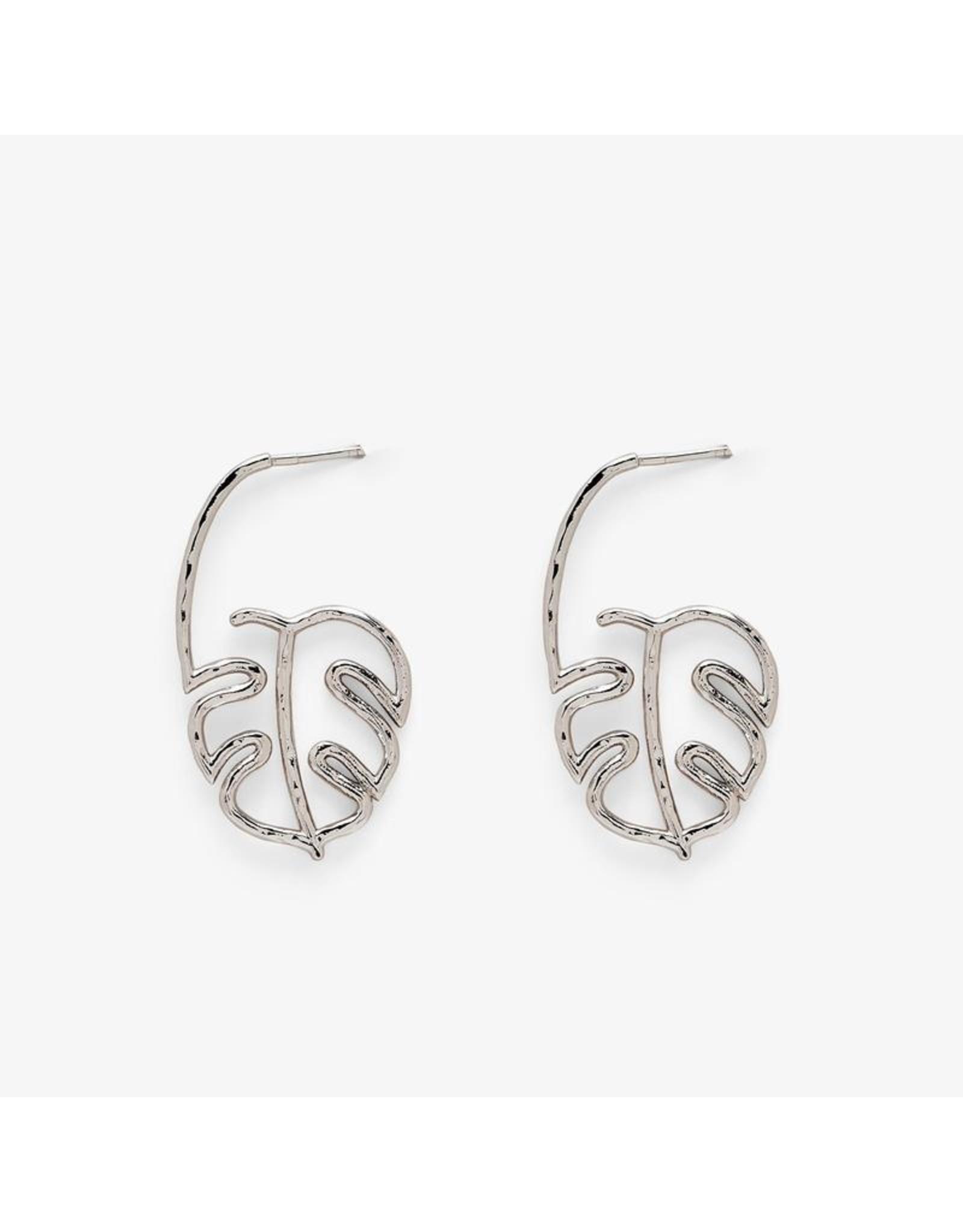 Pura Vida Palm Leaf Hoop Earrings