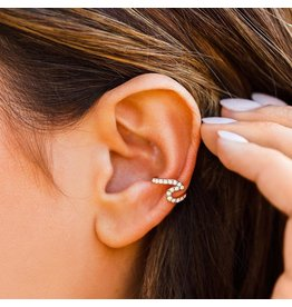 Pura Vida Stone Wave Ear Cuff