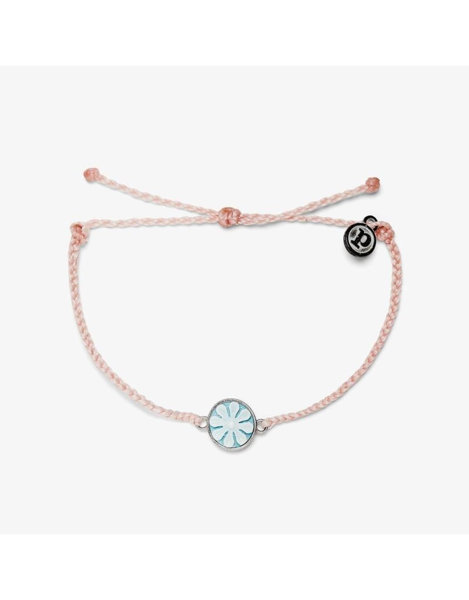 Pura Vida Cameo Silver Barcelet, Baby Pink