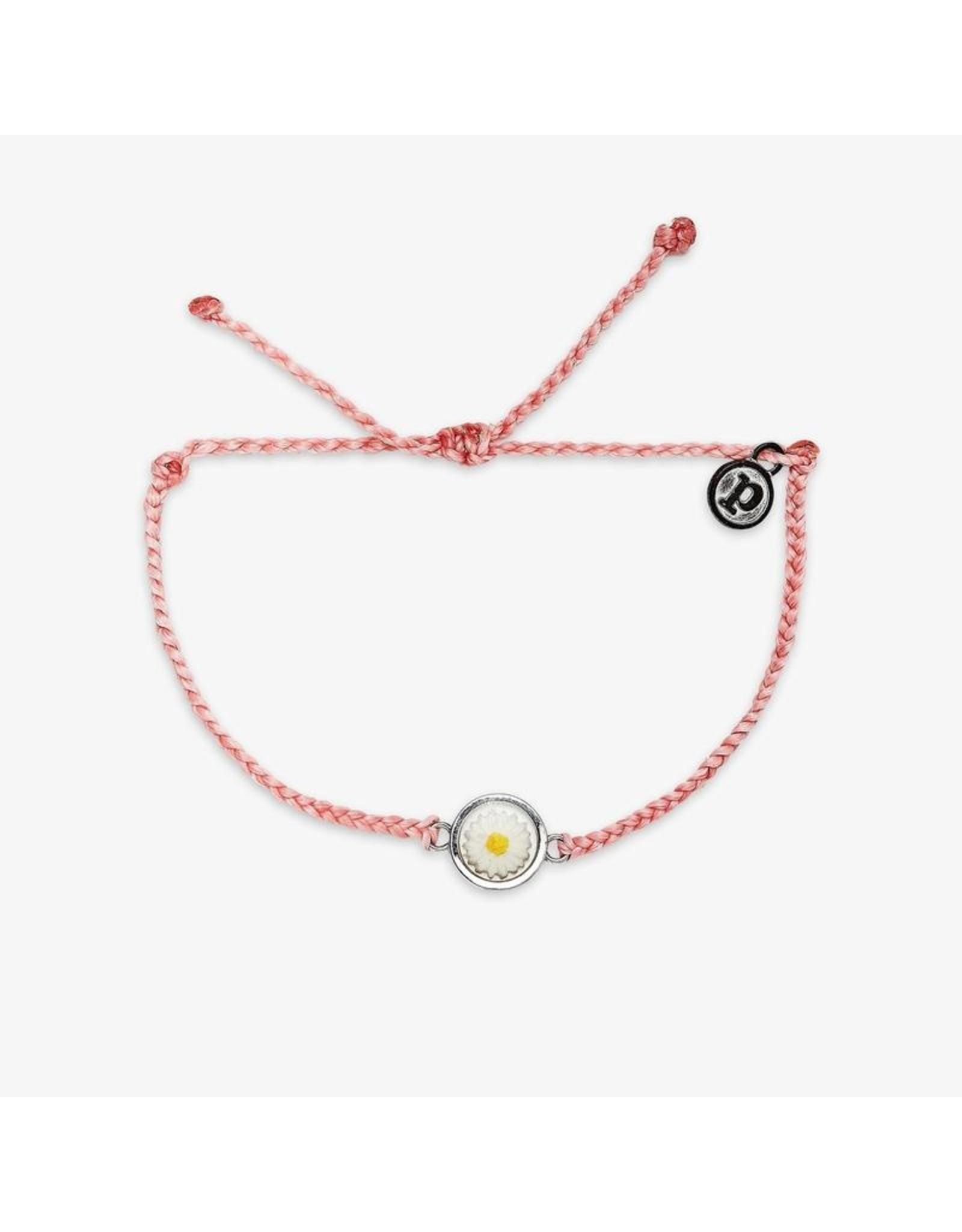 Pura Vida Meadow Silver Bracelet, Parfait Pink