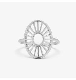 Pura Vida Sunburst Ring, Silver