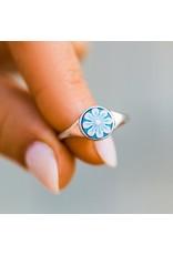 Pura Vida Cameo Ring, Silver