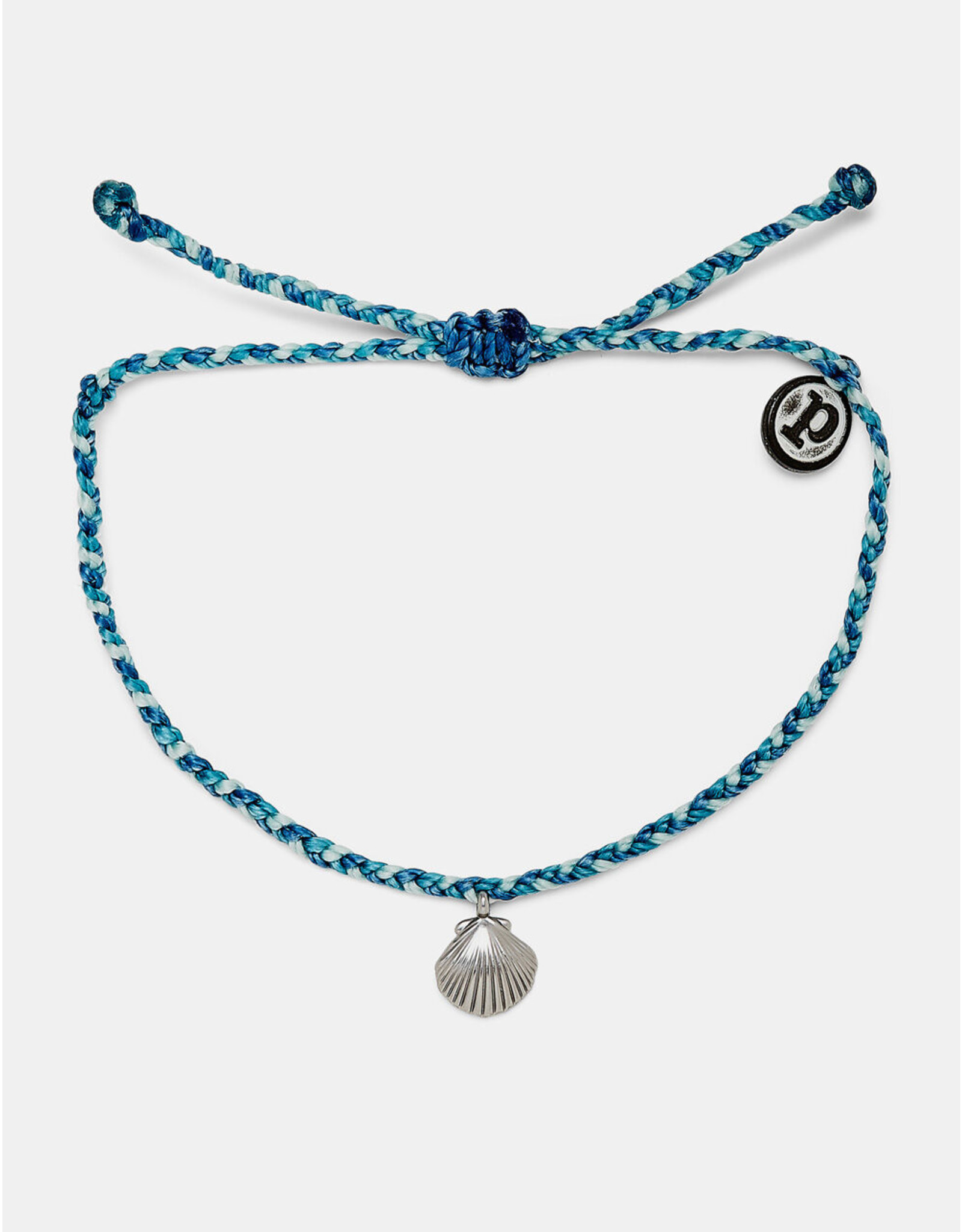 Pura Vida La concha Silver Bracelet, Blue