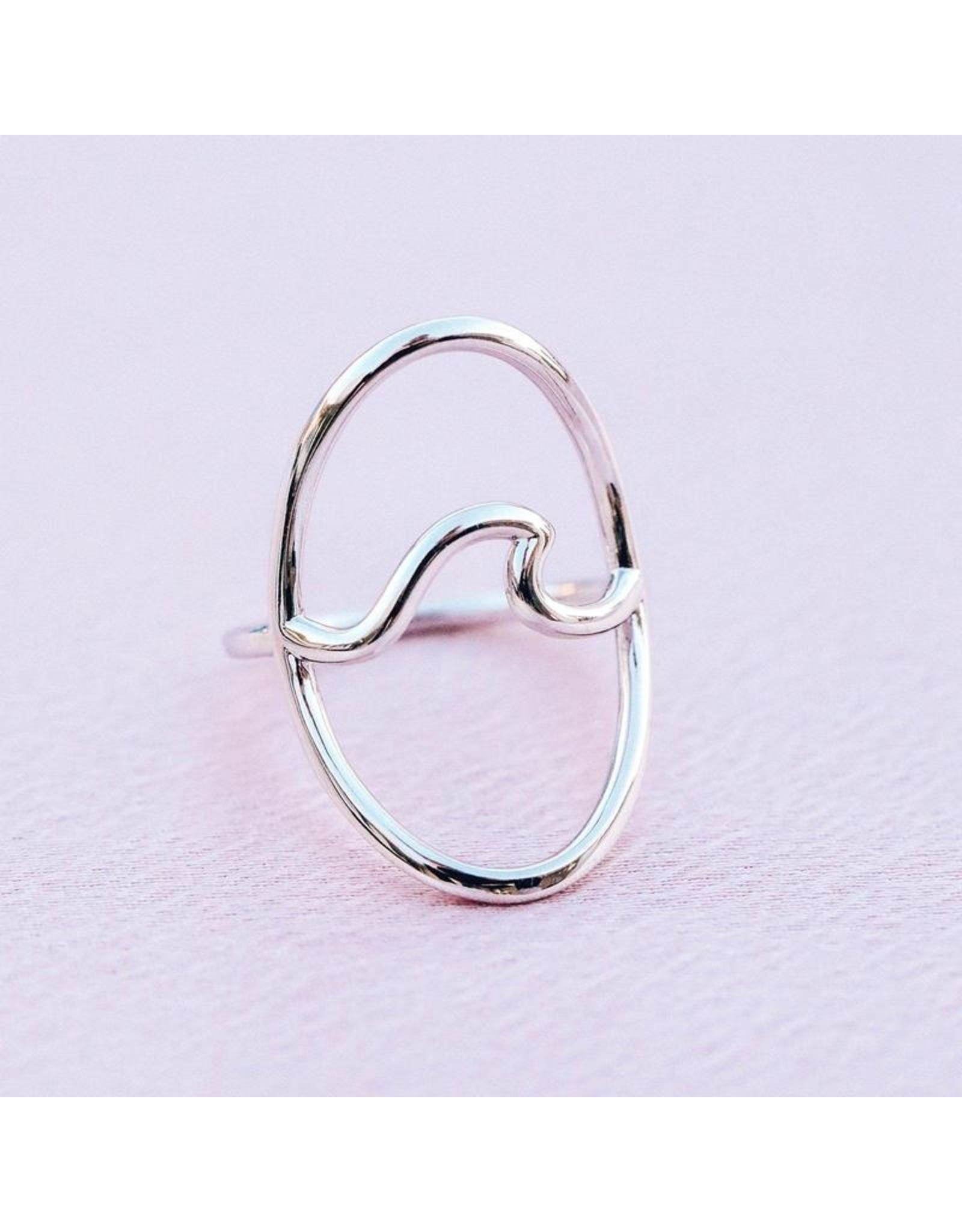 Pura Vida Statement Oversized Wave Ring, Silver