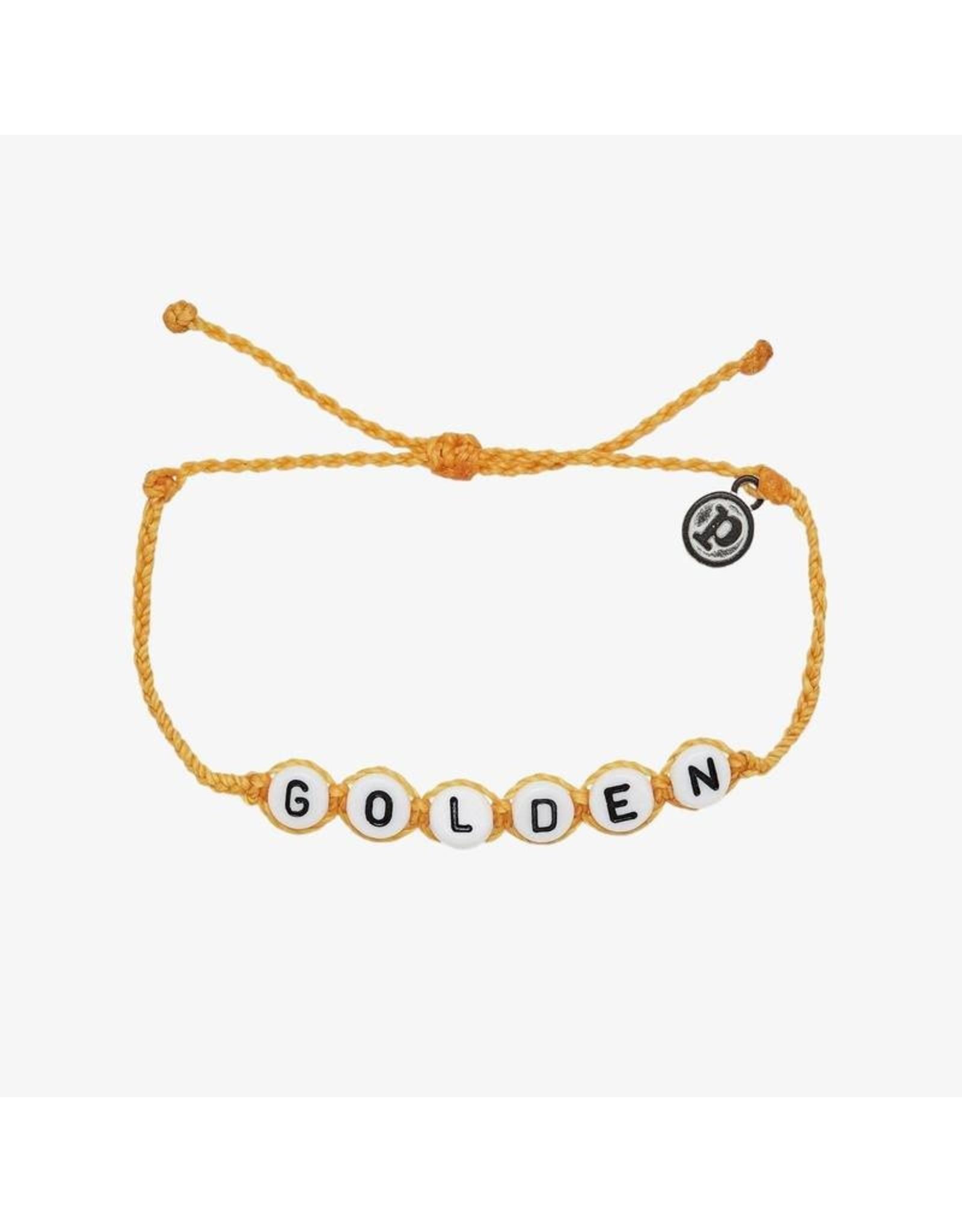 Pura Vida Golden Word Bracelet, Gold