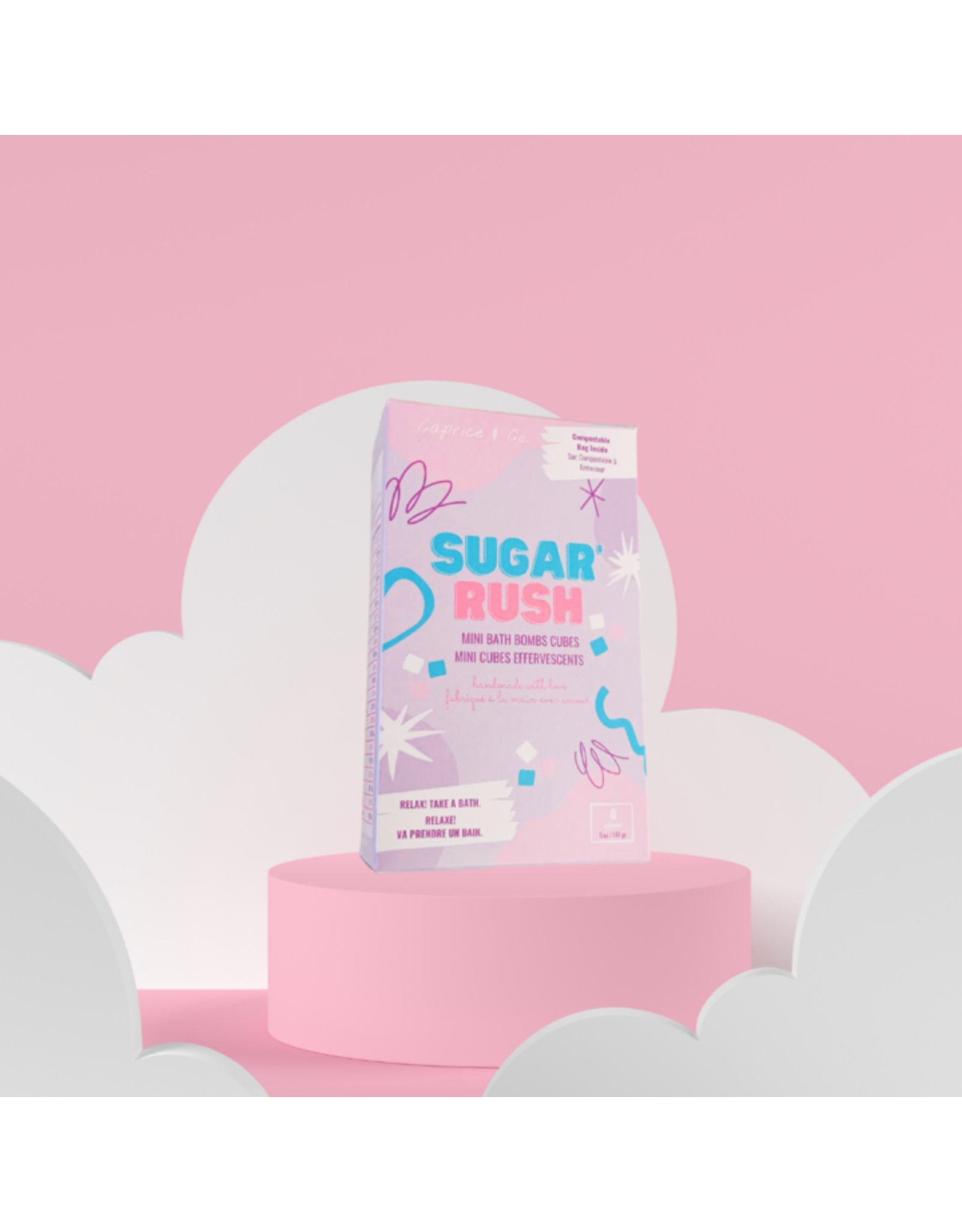Caprice & Co Mini Bath Bomb, Sugar Rush