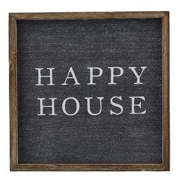 Mud Pie Wooden Frame, Happy House