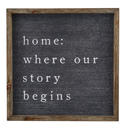 Mud Pie Wooden Frame, Home: Is Where Our Story Begins