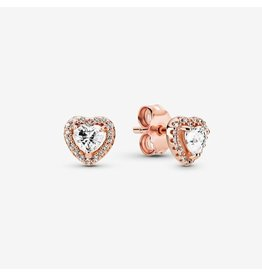 Pandora Pandora Earrings,288427C01, Heart Rose Gold