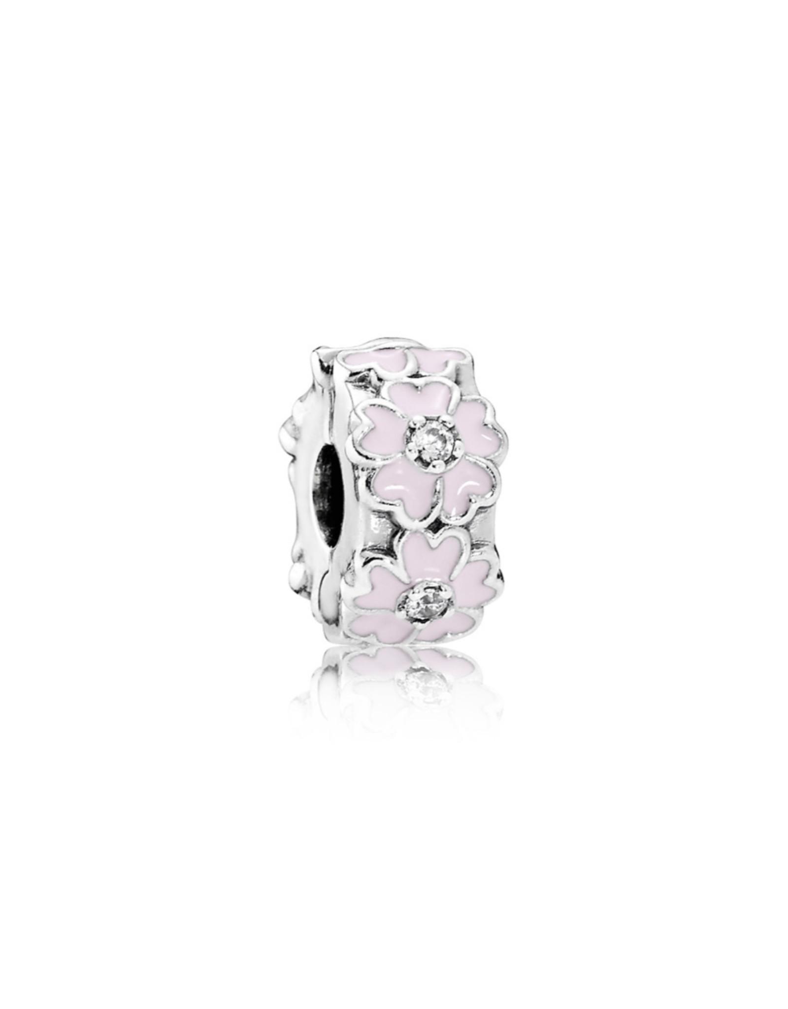 Pandora Pandora Clip, 791823EN68 Pink  Primrose Light Pink Enamel, Silicone Grip