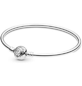 Pandora Pandora Charm Disney Jasmine silver bangle with clear cubic zirconia 17 cm