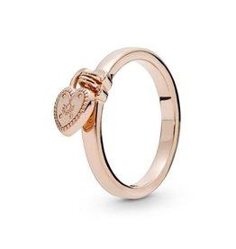 Pandora Pandora Ring, 186571,Rose Gold, Love Lock