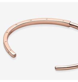 Pandora Pandora Bracelet, 589493C00, Signature Open Bangle, Rose Gold