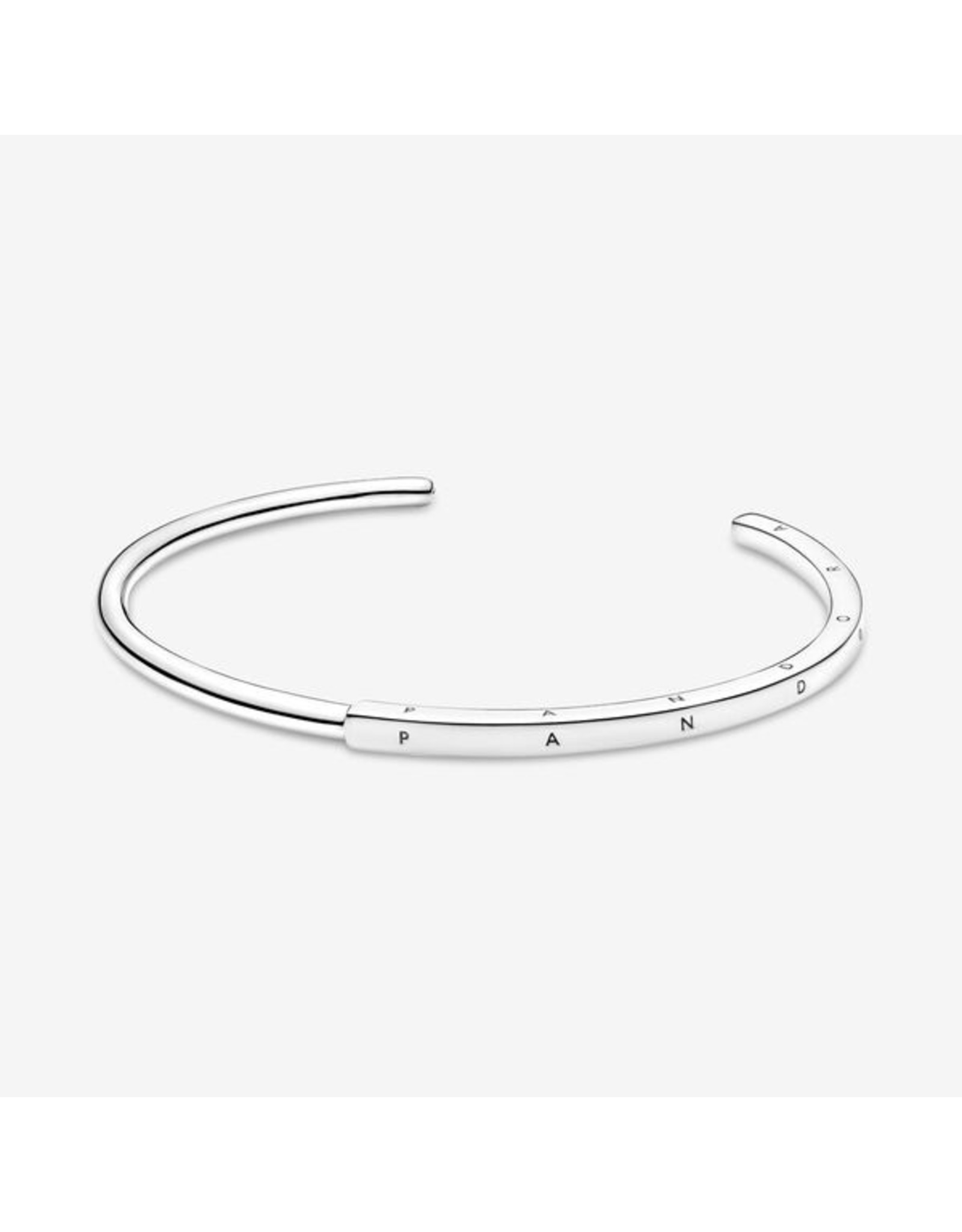 Pandora Pandora Bracelet,599493C00, Signature Open Bangle, Silver
