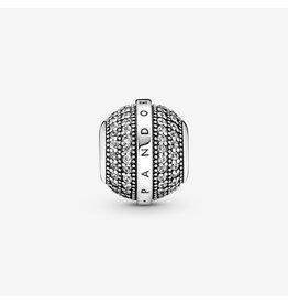 Pandora Pandora Charm,799489C01, Pave&Logo, Clear CZ