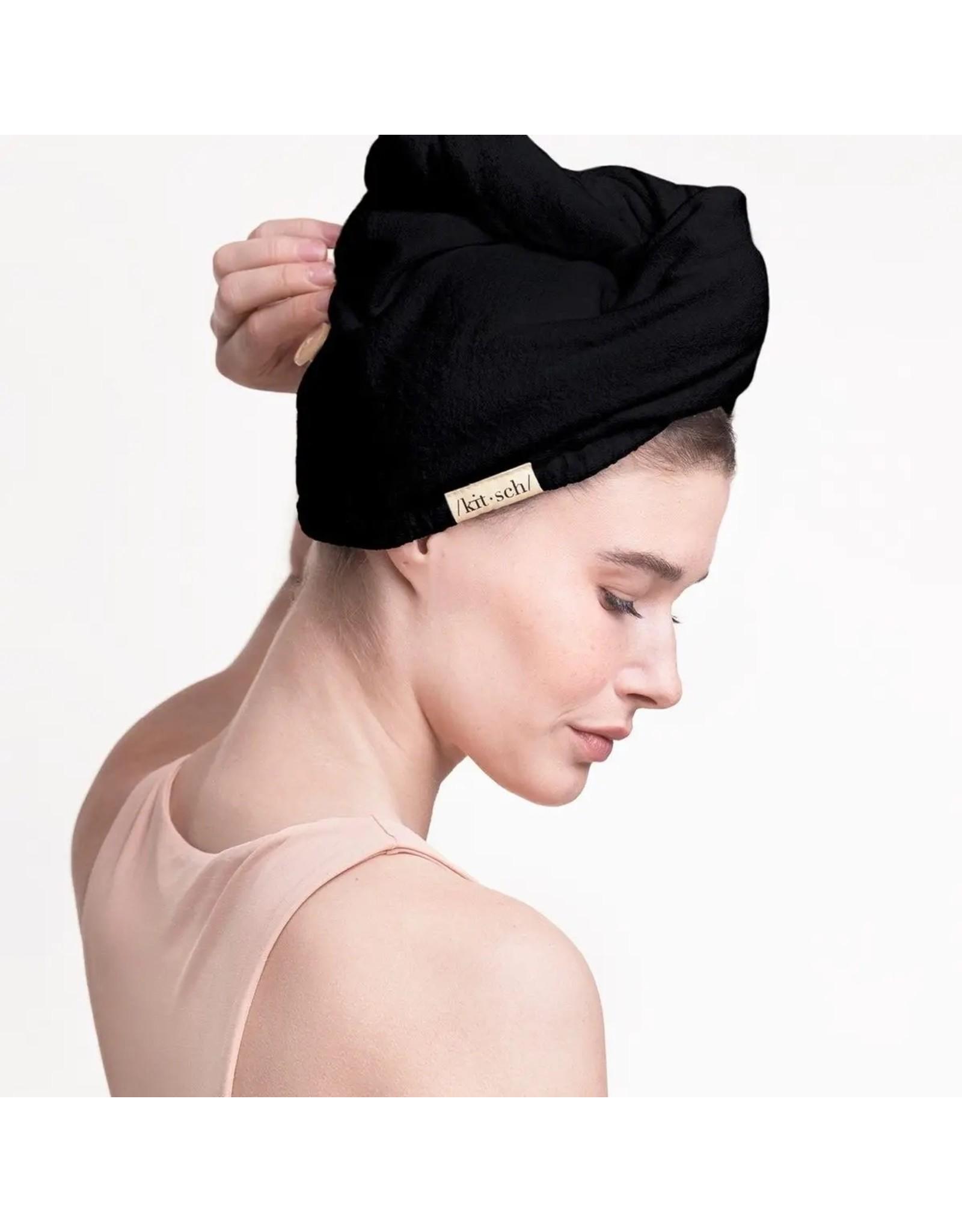 Kitsch Eco-Friendly Hair Towel- Black