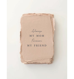 Paper barista Card, Always My Mom