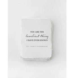 Card, You Are The Loveliest Thing