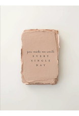 Paper barista Card, You Make Me Smile