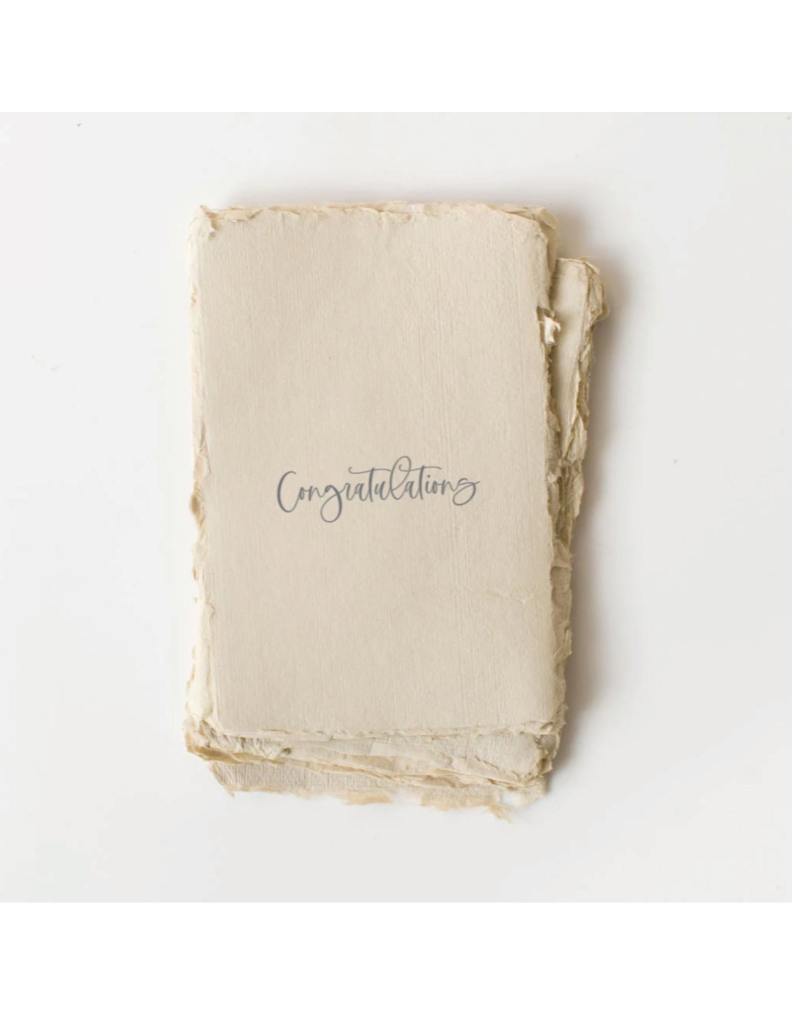 Paper barista Card, Congratulations