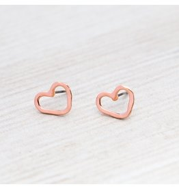 Glee jewelry Amore Studs/Rose Gold