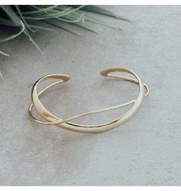 Glee jewelry Aurelia Cuff Bracelet/Gold