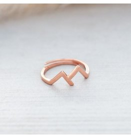 Glee jewelry Rocky Mountain Ring, Rose Gold