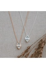 Glee jewelry Affinity Necklace/Rose Gold