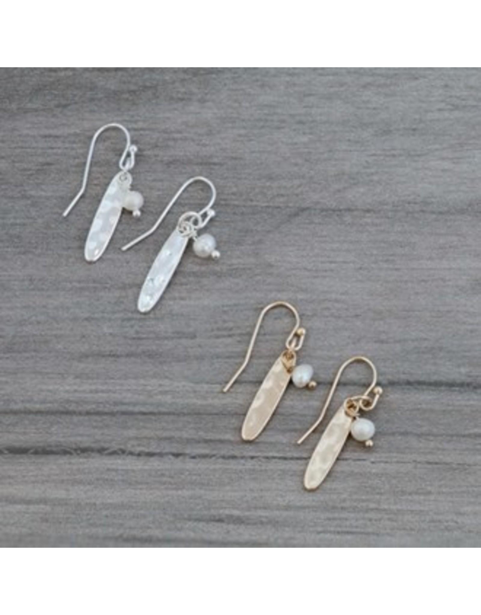 Glee jewelry Ali Earrings/White Pearl/Gold