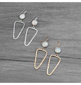 Glee jewelry Annabel Earrings/White Pearl-Silver