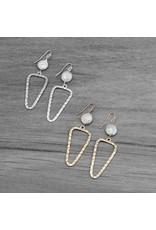 Glee jewelry Annabel Earrings/White Pearl-Gold