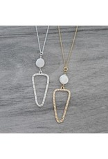 Glee jewelry Annabel Necklace/White Pearl/Gold