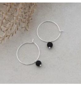 Glee jewelry Bellamy Hoops/Black/Silver