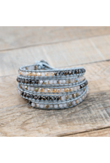Glee jewelry Cali Wrap#2/Grey-Champagne