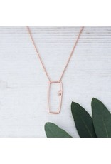 Glee jewelry Capella Necklace/Rose Gold